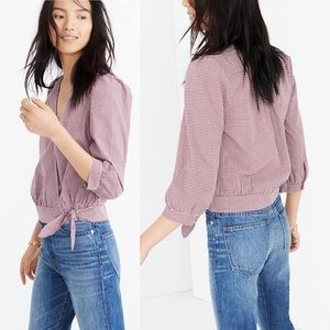 Madewell Faux-Wrap Blouse XL